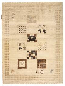 Gabbeh Loribaft Rug 89X119 Authentic  Modern Handknotted Beige/Yellow (Wool, India)