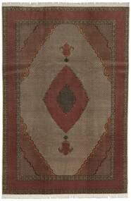Tabriz 60 Raj Silk Warp Rug 200X300 Authentic  Oriental Handknotted Dark Red/Dark Brown (Wool/Silk, Persia/Iran)