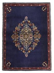 Keshan Rug 68X96 Authentic  Oriental Handknotted Dark Purple/Dark Brown (Wool, Persia/Iran)