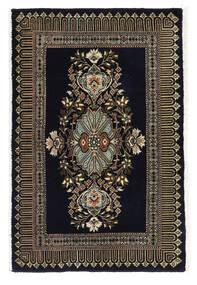 Kashmar Rug 58X89 Authentic  Oriental Handknotted Black/Dark Grey (Wool, Persia/Iran)