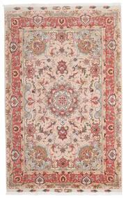 Tabriz 60 Raj Silk Warp Rug 153X240 Authentic Oriental Handknotted Dark Red/Dark Brown (Wool/Silk, Persia/Iran)