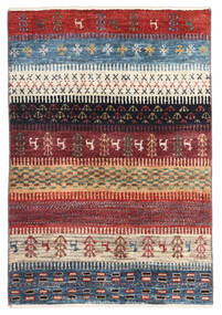 Gabbeh Persia Rug 60X89 Authentic  Modern Handknotted Dark Red/Blue (Wool, Persia/Iran)