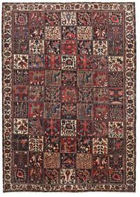 Bakhtiari Rug 220X310 Authentic  Oriental Handknotted Dark Red/Black (Wool, Persia/Iran)