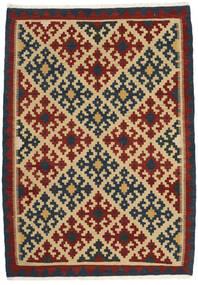Kilim Rug 107X155 Authentic Oriental Handwoven Dark Purple/Dark Red/Dark Beige (Wool, Persia/Iran)