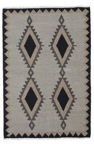 Kilim Rug 100X148 Authentic Oriental Handwoven Light Grey/Dark Grey (Wool, Persia/Iran)