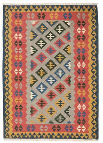 Kilim Rug 107X150 Authentic Oriental Handwoven Rust Red/Light Brown (Wool, Persia/Iran)