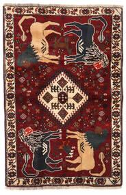 Qashqai Rug 103X158 Authentic Oriental Handknotted Dark Red/Black (Wool, Persia/Iran)