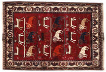 Qashqai Rug 127X186 Authentic  Oriental Handknotted Dark Red/Dark Brown (Wool, Persia/Iran)