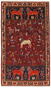 Qashqai Rug 124X211 Authentic  Oriental Handknotted Dark Red/Dark Brown (Wool, Persia/Iran)