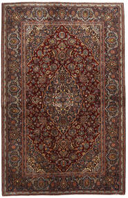 Keshan Rug 136X210 Authentic  Oriental Handknotted Dark Red/Dark Brown (Wool, Persia/Iran)