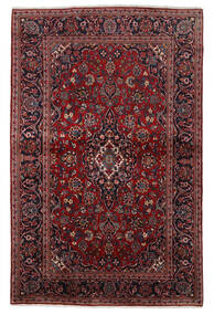 Keshan Rug 140X215 Authentic  Oriental Handknotted Dark Red (Wool, Persia/Iran)