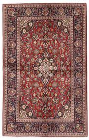 Keshan Rug 130X206 Authentic  Oriental Handknotted Dark Red/Dark Brown (Wool, Persia/Iran)
