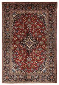 Keshan Rug 140X210 Authentic  Oriental Handknotted Dark Red/Black (Wool, Persia/Iran)