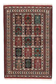 Turkaman Rug 98X146 Authentic Oriental Handknotted Dark Brown/Dark Red (Wool, Persia/Iran)