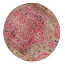 Vintage Heritage Rug Ø 100 Authentic  Modern Handknotted Round Brown/Pink (Wool, Persia/Iran)