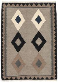Kilim Rug 107X150 Authentic Oriental Handwoven Light Grey/Black (Wool, Persia/Iran)