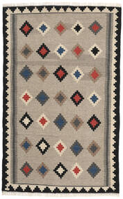 Kilim Rug 102X165 Authentic Oriental Handwoven Light Grey/Dark Grey (Wool, Persia/Iran)