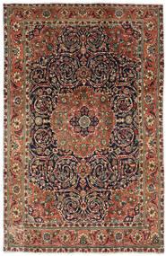 Tabriz Rug 196X308 Authentic Oriental Handknotted Dark Brown/Dark Grey (Wool, Persia/Iran)