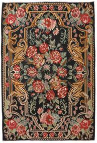 Rose Kelim Moldavia Rug 201X298 Authentic Oriental Handwoven Black/Dark Red (Wool, Moldova)