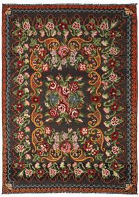 Rose Kelim Moldavia Rug 191X282 Authentic Oriental Handwoven Black/Dark Green (Wool, Moldova)