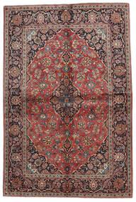 Keshan Rug 140X215 Authentic  Oriental Handknotted Dark Red/Black (Wool, Persia/Iran)