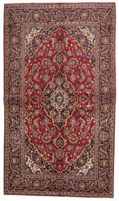 Keshan Rug 138X239 Authentic  Oriental Handknotted Dark Red/Dark Brown (Wool, Persia/Iran)