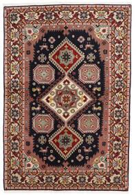 Ardebil Rug 138X203 Authentic  Oriental Handknotted Dark Brown/Dark Red (Wool, Persia/Iran)