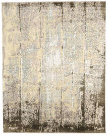 Damask Indo Rug 239X305 Authentic  Modern Handknotted Beige/Light Grey (Wool/Bamboo Silk, India)