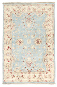 Ziegler Ariana Rug 78X120 Authentic  Oriental Handknotted White/Creme/Beige/Light Grey/Yellow (Wool, Afghanistan)
