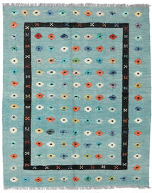 Kilim Nimbaft Rug 157X200 Authentic  Modern Handwoven Pastel Green/Turquoise Blue (Wool, Afghanistan)