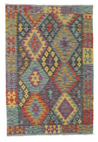 Kilim Afghan Old Style Rug 122X179 Authentic  Oriental Handwoven Dark Grey/Dark Red (Wool, Afghanistan)