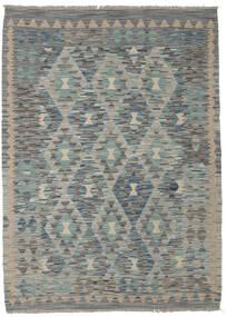 Kilim Afghan Old Style Rug 130X179 Authentic  Oriental Handwoven Dark Green/Light Grey/Dark Grey (Wool, Afghanistan)