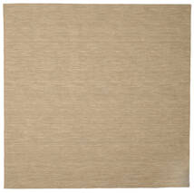 Kilim Loom - Beige Rug 250X250 Authentic  Modern Handwoven Square Brown/Beige Large (Wool, India)