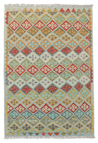 Kilim Afghan Old Style Rug 133X185 Authentic  Oriental Handwoven Light Green/Light Grey (Wool, Afghanistan)