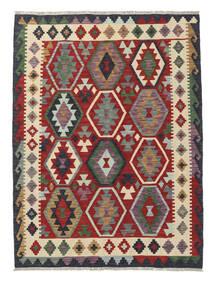 Kilim Afghan Old Style Rug 131X173 Authentic  Oriental Handwoven Dark Red/Black (Wool, Afghanistan)