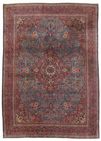 Keshan Rug 240X339 Authentic  Oriental Handknotted Dark Brown/Dark Red (Wool, Persia/Iran)