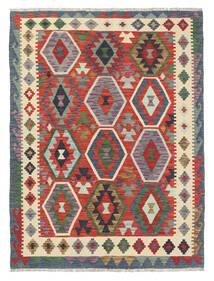 Kilim Afghan Old Style Rug 131X177 Authentic  Oriental Handwoven Dark Grey/Beige (Wool, Afghanistan)