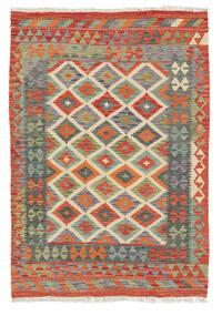 Kilim Afghan Old Style Rug 118X173 Authentic  Oriental Handwoven Crimson Red/Dark Grey (Wool, Afghanistan)