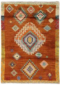 Moroccan Berber - Afghanistan Rug 116X163 Authentic  Modern Handknotted Crimson Red/Orange (Wool, Afghanistan)