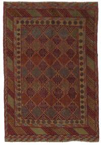 Kilim Golbarjasta Rug 140X195 Authentic  Oriental Handwoven Black/Dark Brown (Wool, Afghanistan)