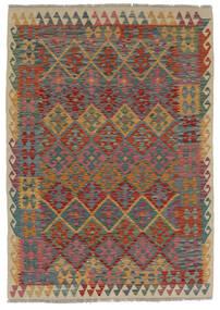 Kilim Afghan Old Style Rug 124X170 Authentic  Oriental Handwoven Dark Brown/Black (Wool, Afghanistan)