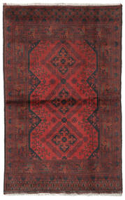Afghan Khal Mohammadi Rug 95X147 Authentic  Oriental Handknotted Black/Dark Brown (Wool, Afghanistan)