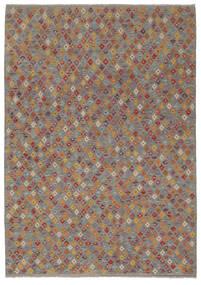 Kilim Afghan Old Style Rug 202X292 Authentic  Oriental Handwoven Dark Brown/Dark Grey (Wool, Afghanistan)