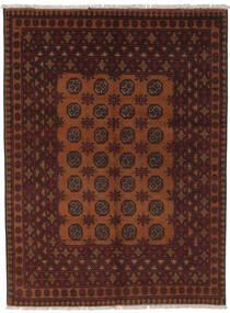 Afghan Rug 145X195 Authentic  Oriental Handknotted Black/Dark Brown (Wool, Afghanistan)