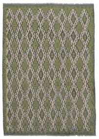 Kilim Afghan Old Style Rug 209X296 Authentic  Oriental Handwoven Dark Grey/Dark Green (Wool, Afghanistan)