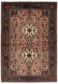 Hamadan Rug 150X220 Authentic  Oriental Handknotted Black/Dark Brown (Wool, Persia/Iran)