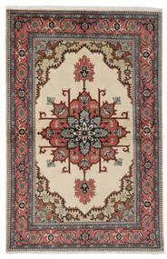 Ardebil Rug 135X206 Authentic  Oriental Handknotted Black/Dark Brown (Wool, Persia/Iran)