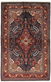 Golpayegan Rug 134X209 Authentic  Oriental Handknotted Black/Dark Brown (Wool, Persia/Iran)