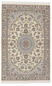 Nain 9La Rug 102X160 Authentic  Oriental Handknotted Dark Grey/Dark Brown (Wool/Silk, Persia/Iran)
