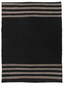 Kilim Modern Rug 128X170 Authentic  Modern Handwoven Black (Wool, Afghanistan)
